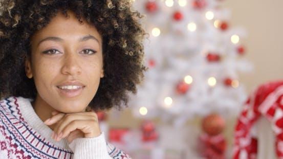 Thumbnail for on Happy Woman Near Christmas Tree