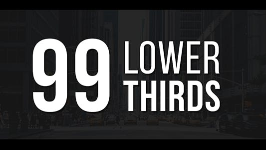 Thumbnail for 99 Lower Thirds Pack