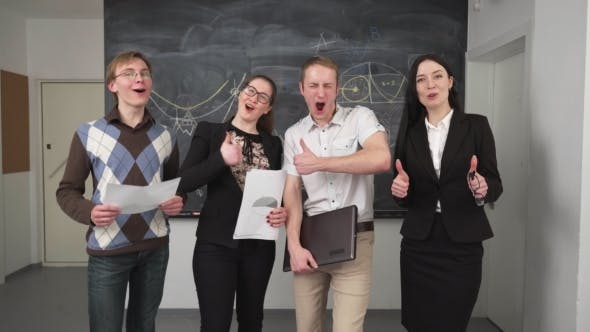 Thumbnail for Group of Young Laughing People