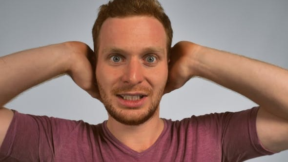 Thumbnail for Redhead Male Shows Feeling Awful Music