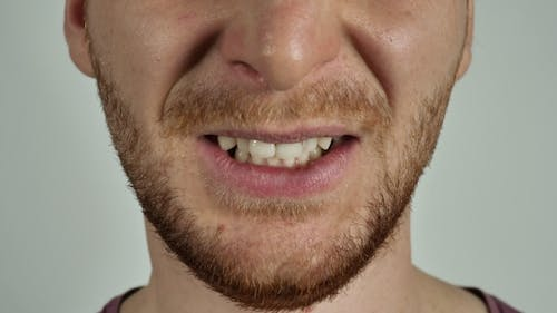 Mouth of an Irritated Person