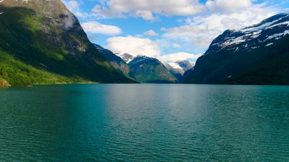 Cover Image for Lovatnet Lake Beautiful Nature Norway