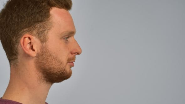 Thumbnail for Half-face Ginger Male Sneezes