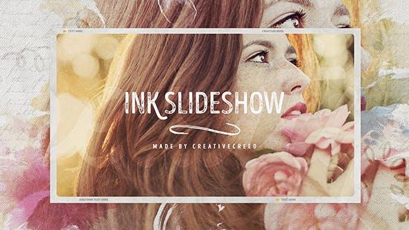 Ink Slideshow / Romantic Memories / Wedding Photo Album / Vintage Opener