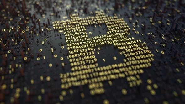 Thumbnail for Bitcoin Symbol Made of Golden Numbers