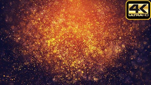 Thumbnail for Golden Burned Particles Bokehs