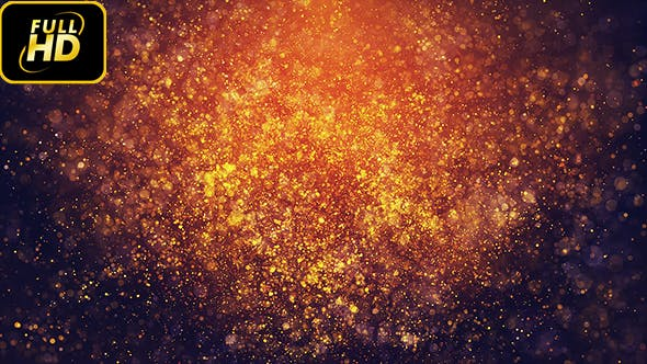 Thumbnail for Golden Burned Particles Bokehs Loop