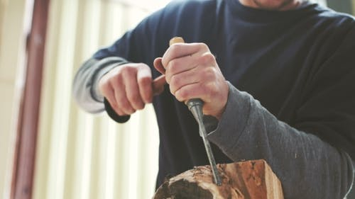 Shaping Wood With Chisel