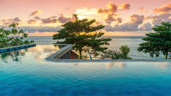 Thumbnail for Exotic Romantic Sunrise Infinity Pool with Panoramic Sea Views