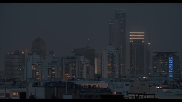 Thumbnail for Tel Aviv Cityscape in the Dusk, Israel