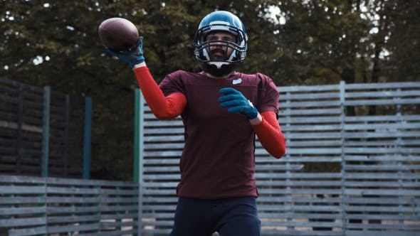 Thumbnail for American Football Player Throwing Ball