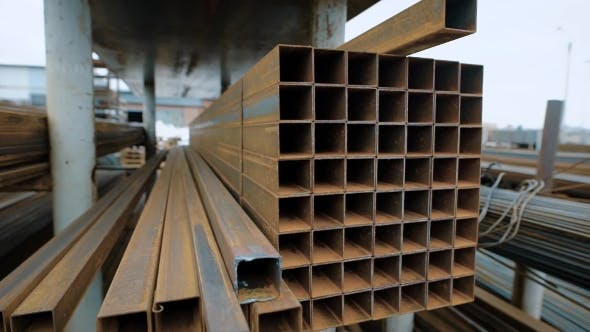 Thumbnail for Metal Beams That Are Used To Reinforce the Building Structures in the Industry