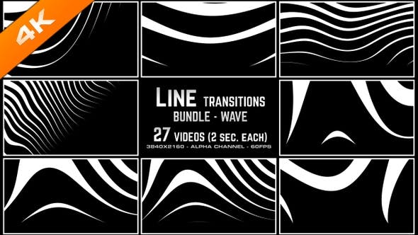 Thumbnail for Line Transitions Bundle - Wave 4K