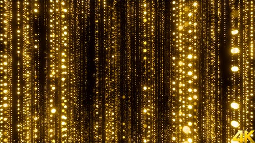 Awards Golden Particles Background
