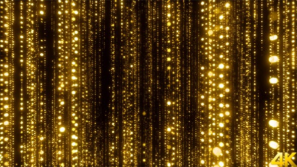 Cover Image for Awards Golden Particles Background