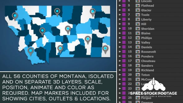 Download video template infographics envato elements thumbnail for montana map kit gumiabroncs Images