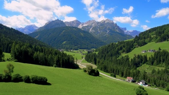 Cover Image for Scenic View of the Beautiful Landscape in the Alps