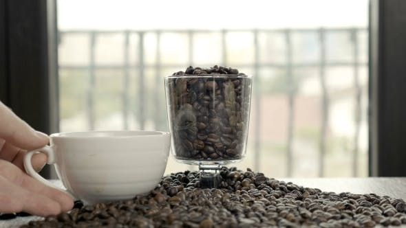 Thumbnail for Donuts and Cup of Coffee on Roasted Coffee Beans