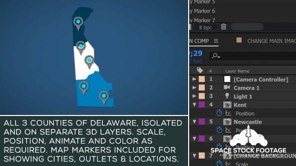 Delaware Map Kit