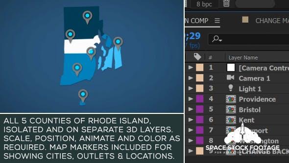 Rhode Island Map Kit