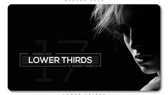 Thumbnail for Modern Lower Thirds Pack