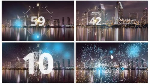 Silver New Year Countdown 2019