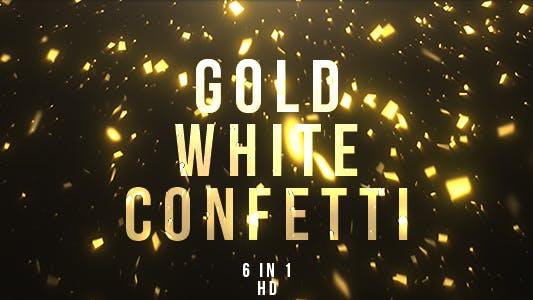 Thumbnail for Gold White Confetti