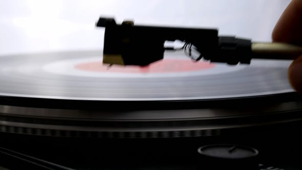 Thumbnail for Spinning Record Player With Vintage Vinyl