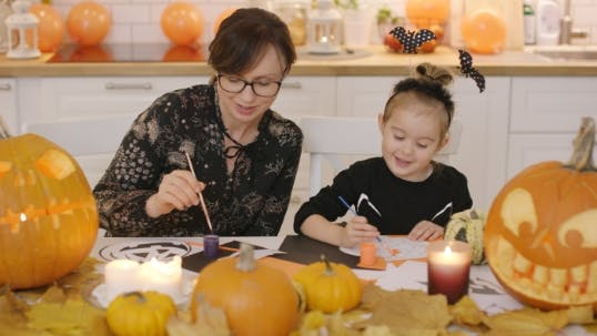 Thumbnail for Mother and Daughter Making Decorations