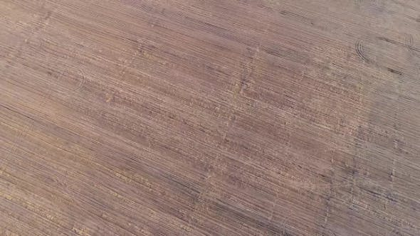Aerial View: Cultivating Arable Land for Seeding Crops
