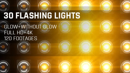 Thumbnail for 120 Flashing Light Full HD and 4K Warm Glow Loop Footages/ Gold Award Led Light Stage Backgrounds