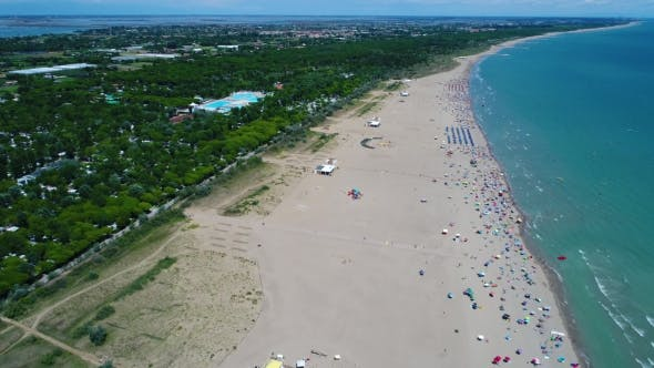 Italy, the Beach of the Adriatic Sea