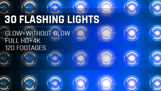 Cover Image for 120 Flashing Light Full HD and 4K Blue Glow Loop Footages/ Cold Award Led Light Stage Backgrounds