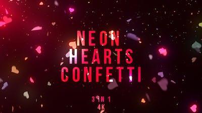 Neon Heart Confetti