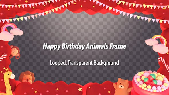 Thumbnail for Happy Birthday Animals Frame