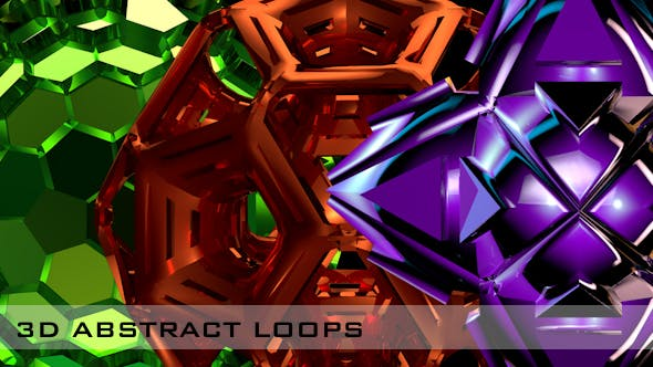 Thumbnail for 3D Abstract Loops - 3 Pack