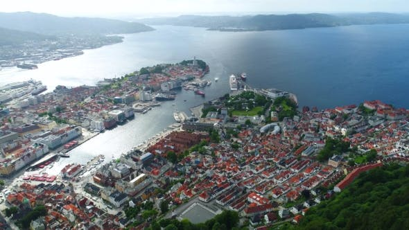Thumbnail for Bergen Is a City and Municipality in Hordaland on the West Coast of Norway.