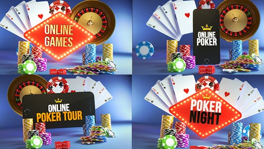 Poker Casino Logo Reveal Modular Pack