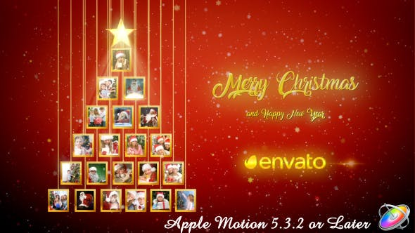 Thumbnail for Christmas Tree Photos Opener - Apple Motion