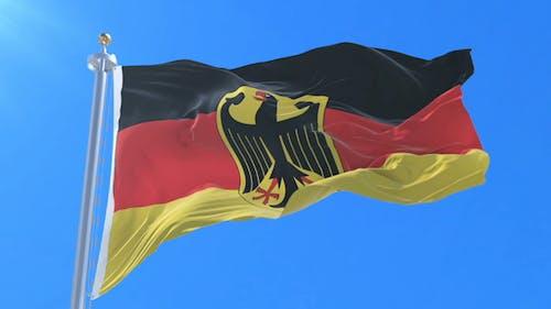 Flag of Germany Waving
