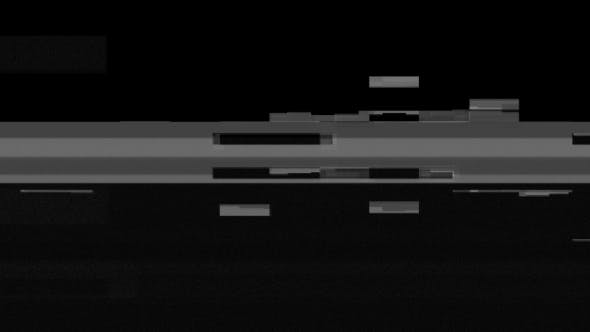 Thumbnail for White Noise on Black Glitch Video Damage Background