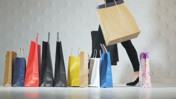 Cover Image for Girls Take Shopping Bags