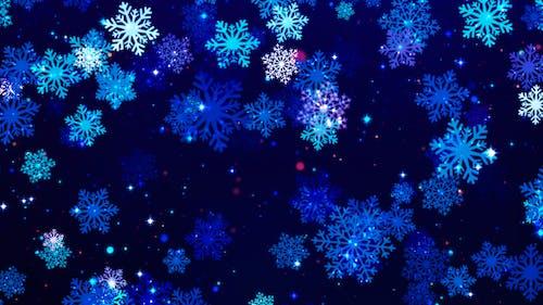 Snowflakes Loop Background