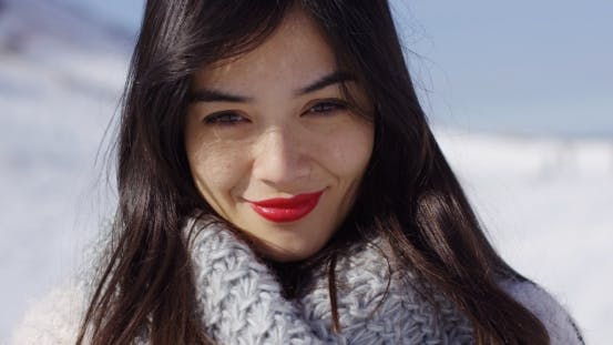 Thumbnail for Smiling Woman in Cowl