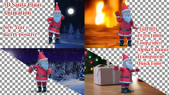 Thumbnail for Santa Animation Christmas