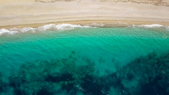 Thumbnail for Aerial Survey From a Drone Over the Surface of the Sea Near Shore