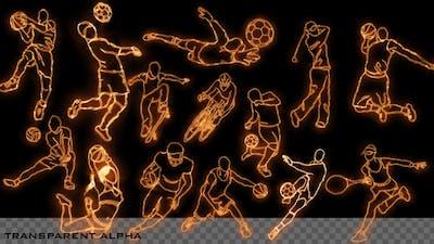 Burning Sport Elements - 14 Pack