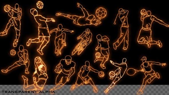 Thumbnail for Burning Sport Elements - 14 Pack