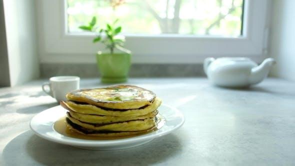 Thumbnail for Pancakes on Kitchen Table