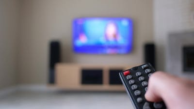 A Man with a Remote Control